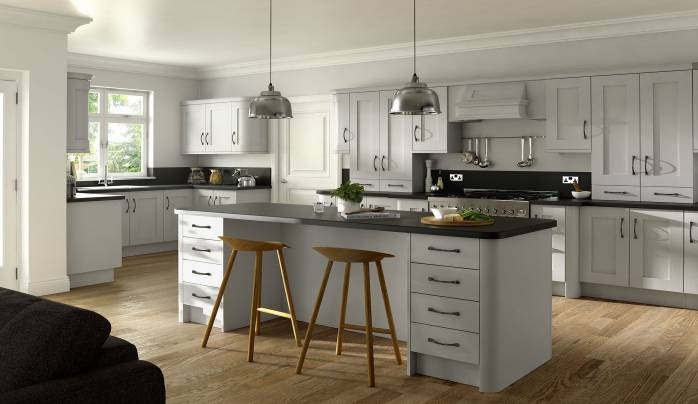 Superbe Main Slider Image Of Buckingham Dove Grey V2. This Kitchen